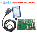 Fichas completas PCB Verde Scanner de Diagnóstico Profissional Para Volvo Dice Pro + 2014D Self-Test/Firmware Atualização Vida Para Volvo Dice HOT