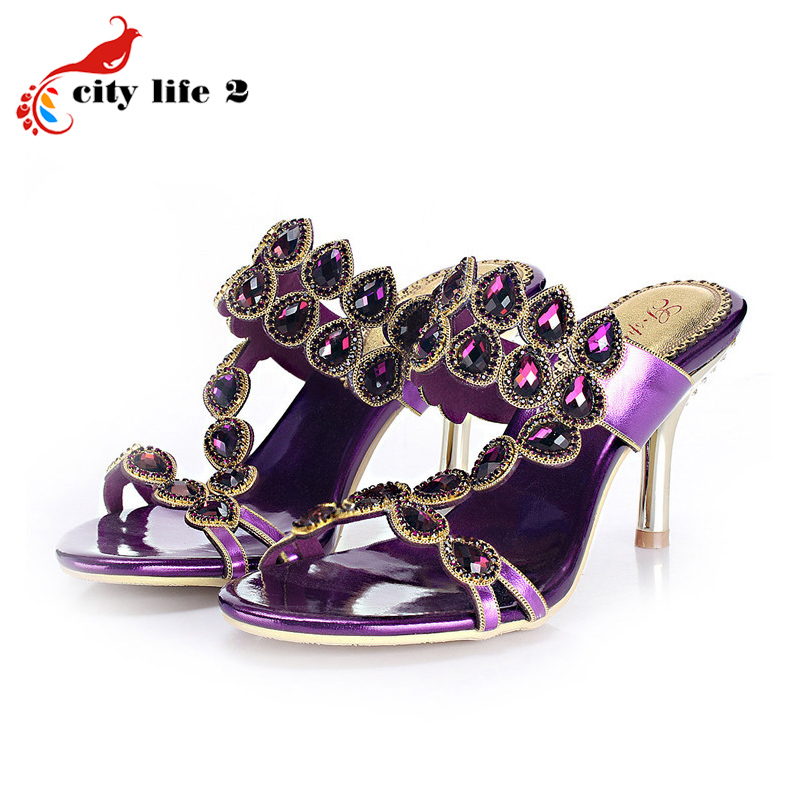 Rhinestone Pumps For font b Women b font 2015 New Sexy Stiletto Heel Shoes font b