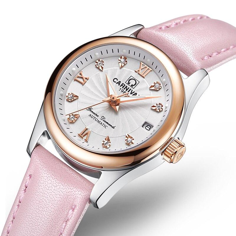 Relógios de Luxo da Marca Safira à Prova Carnaval Feminino Senhoras Relógio Mecânico Automático Dwaterproof Água C-8830-12 Mod. 185044