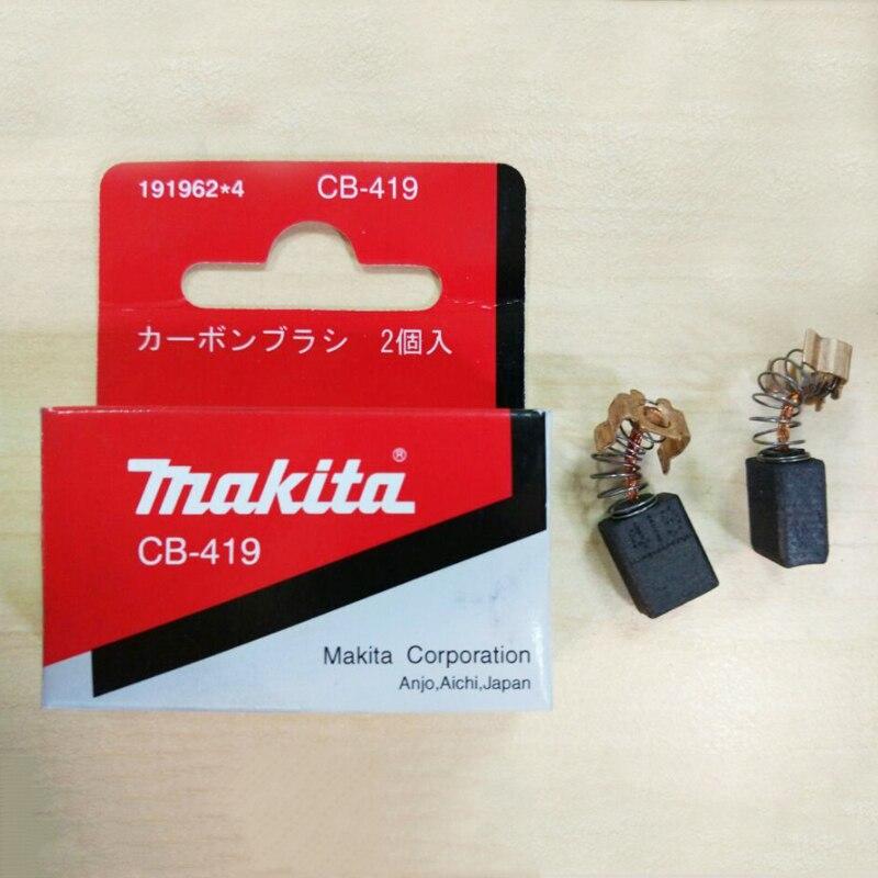1 Pair Original Carbon Brushes For Makita CB 406 407 418 419 CB406 CB407 CB418 CB419 6x9x11.5mm 2pcs original carbon brushes bush repairing part for original generic electric motor dremel accessories
