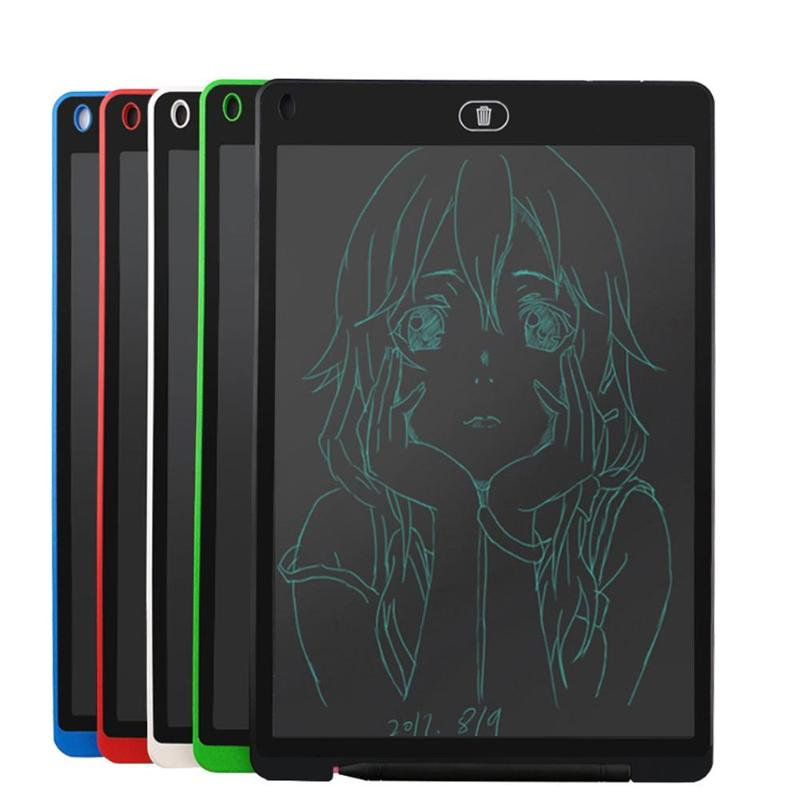 VAKIND 12 inch LCD Writing Tablet Digital Drawing Tablet Handwriting Pads Portable Electronic Tablet Board for Kids Drawing 8 5 inch frog handwriting tablet board lcd writing tablet graphic drawing board for kids xxm8