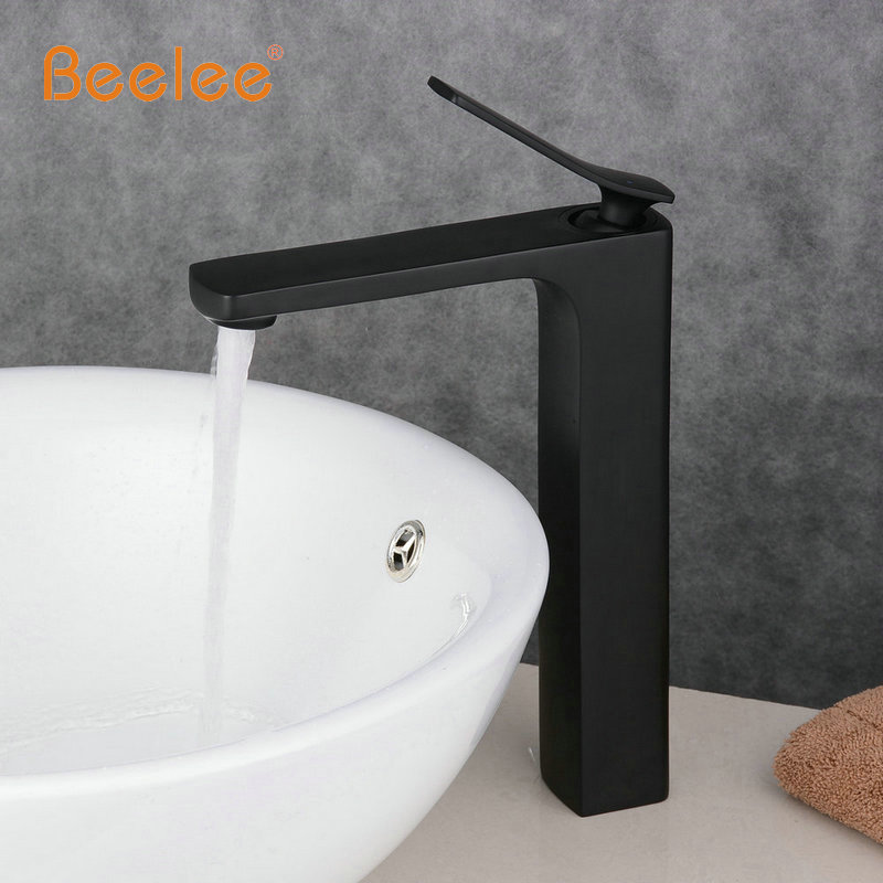 Modern Bathroom Products Chrome and Black Hot and Cold Water Basin Faucet Mixer Single Handle torneira water Tap BL6601BH newest washbasin design single hole one handle bathroom basin faucet mixer tap hot and cold water orb chrome brusehd