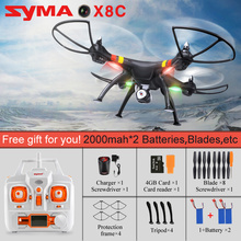 SYMA X8G-1 X8C X8W Headless Mode 2.4G 6-Axis Drone with 8MP Camera 3D Roll RC Quadcopter Helicopter Transmitter BNF Version Toys