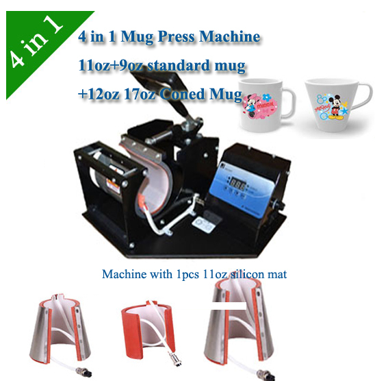 mug change color sublimation press machine , Combo Digital 4 in 1 Mug Press Machine, Cup printing machine DHL Free Shipping
