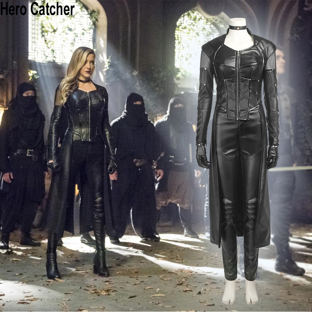 Hero Catcher 4 Top Quality Black Canary Cosplay Costume Arrow 5 Black Canary Costume