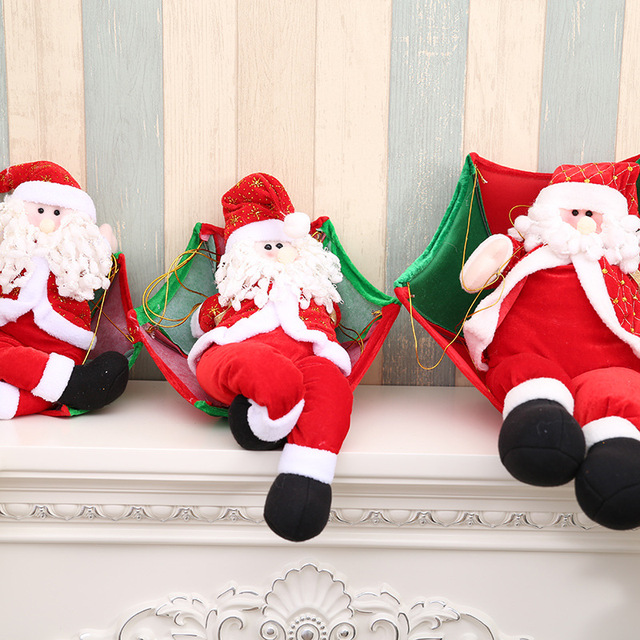 1pcs new christmas charm decorations for home different size parachute santa claus christmas snowman ornaments festival