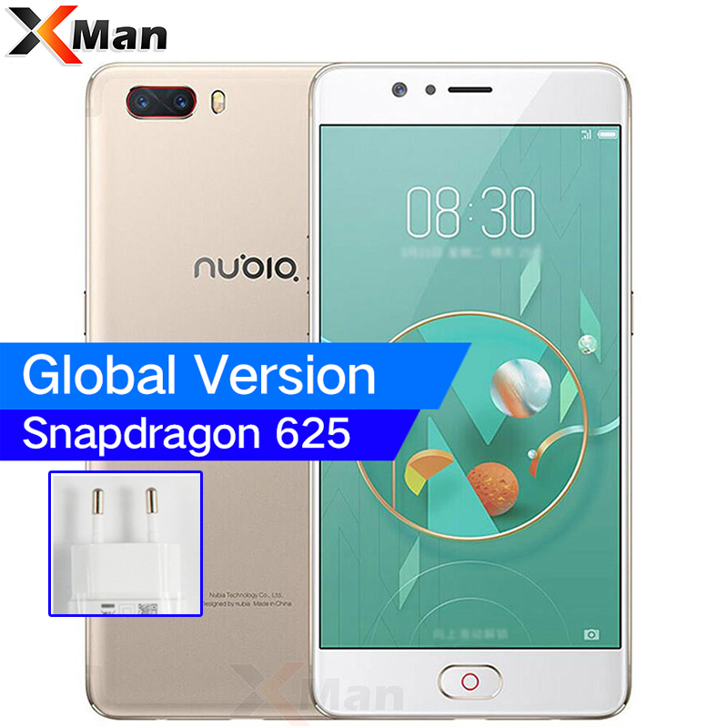 "Global ZTE Nubia M2 4G RAM 64GB Snapdragon 625 Octa Core 5.5"" 4G LTE SmartPhones 13.0MP Dual Rear Camer Fingerprint Mobile Phone"