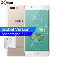 Global ZTE Nubia M2 4G RAM 64GB Snapdragon 625 Octa Core 5.5 4G LTE SmartPhones 13.0MP Dual Rear Camer Fingerprint Mobile Phone