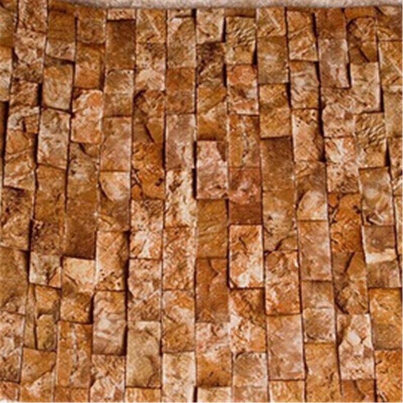 beibehang10M Roll Stacked Brick/Stone Brown/Grey/Beige Vinyl waterproof bedroom Wallpaper Designer Tan Tuscan Faux Brick Wall blanco elipso s ii grey beige