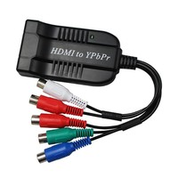HDMI to 1080P Component Video (YPbPr) 5RCA RGB Converter Adapter with Coaxial Audio Output + R / L Audio Black