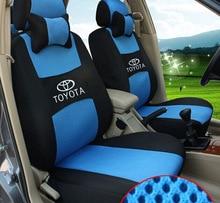 Бесплатная доставка вышивка логотипа автокресло спереди и сзади 5 место на TOYOTA LAND CRUISER RAV4 горец прадо четыре сезона