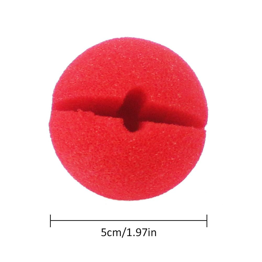 50 Pcs Circus Clown Red Nose Sponge Ball Party Cosplay Festival Props High Elastic Sponge Clown Nose Festival Party Supplies in Photobooth Props from Home Garden