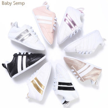 baby boys designer shoes 2017 new arrival baby footwear non slip soft sole infant shoes boy PU leather gold pre walker shoes