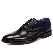 bullock Business mens casual shoes High Quality Genuine Leather Shoes Men,Lace-Up Men Dress Shoes British retro cowhide цены онлайн