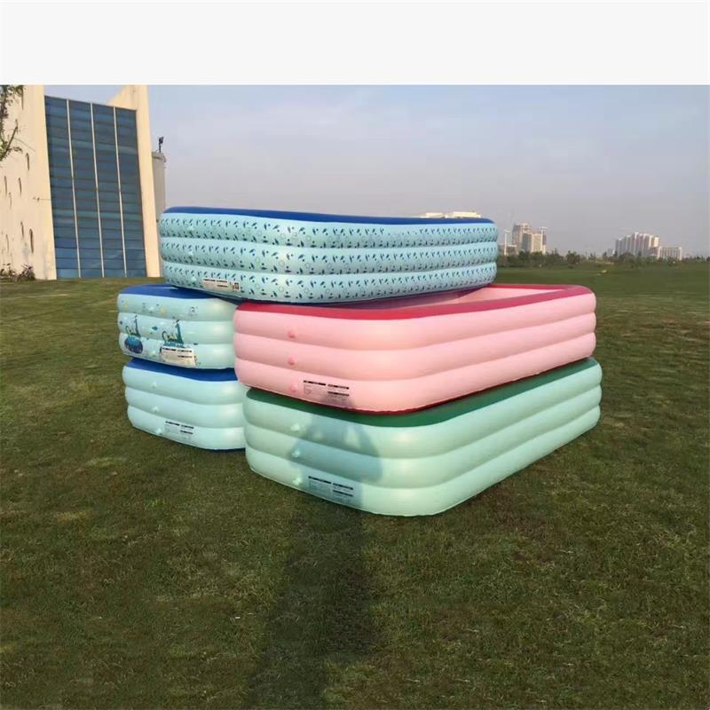 Swimming Pool & Accessories 3pcs Portable Outdoor Baby Swimming Pool Air Cushion Children Inflatable Trinuclear Bathtub Round Basin Summer Water Pool Toys To Have A Unique National Style