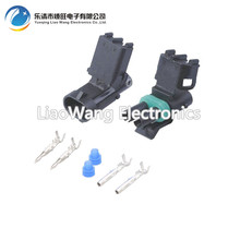 5PCS 2 pin Automotive Connectors jacket with terminal DJ3021Y-2.5-21