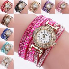 Mulheres Moda Casual Analógico Quartz Mulheres Relógio de Strass Pulseira Relógio Bonito Top marcas de relógio Ultra-fino Elegante * 3