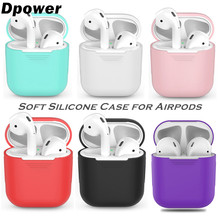 03a4dce7794 Dpower TPU Silicone Bluetooth Wireless Earphone Case For AirPods Protective  Cover Skin Accessory for Apple Airpods