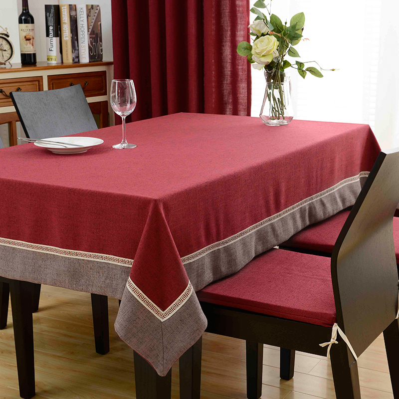 Hot European Trim Rectangle Tablecloth Chenille Dining