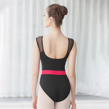leotard women dance mesh tank ballet red belt gymnastics leotards adult dancewear swimsuit