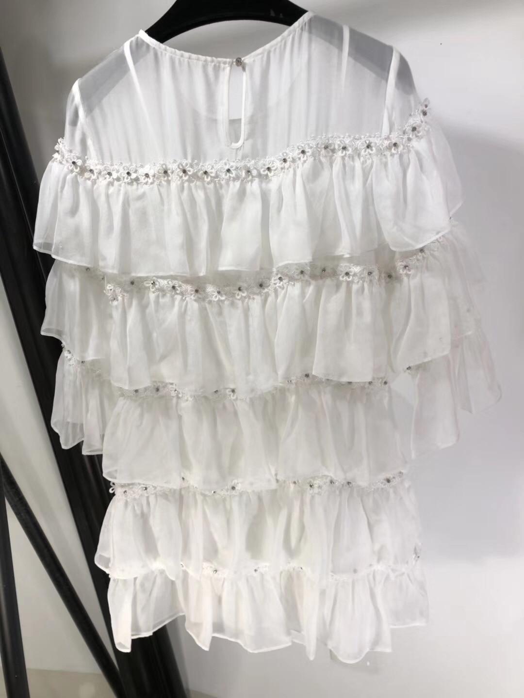 Kadın Giyim'ten Elbiseler'de 2019 Yeni Ipek Elmas Çiviler Uzun Kollu Yuvarlak Yaka Süper Lüks Elbiseler Kadınlar için Ücretsiz Kargo'da  Grup 2