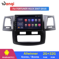 2G RAM 32G ROM 9 Inch Android 8.1 GPS navigation For toyota Fortuner 2007 2015 Hulix Car multimedia player