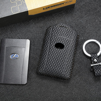 luckeasy leather key cover for LEXUS LX 570 2013/2016 LS 2010 600hl  car key case wallet holder  key holder key4y|Key Case for Car| |  -