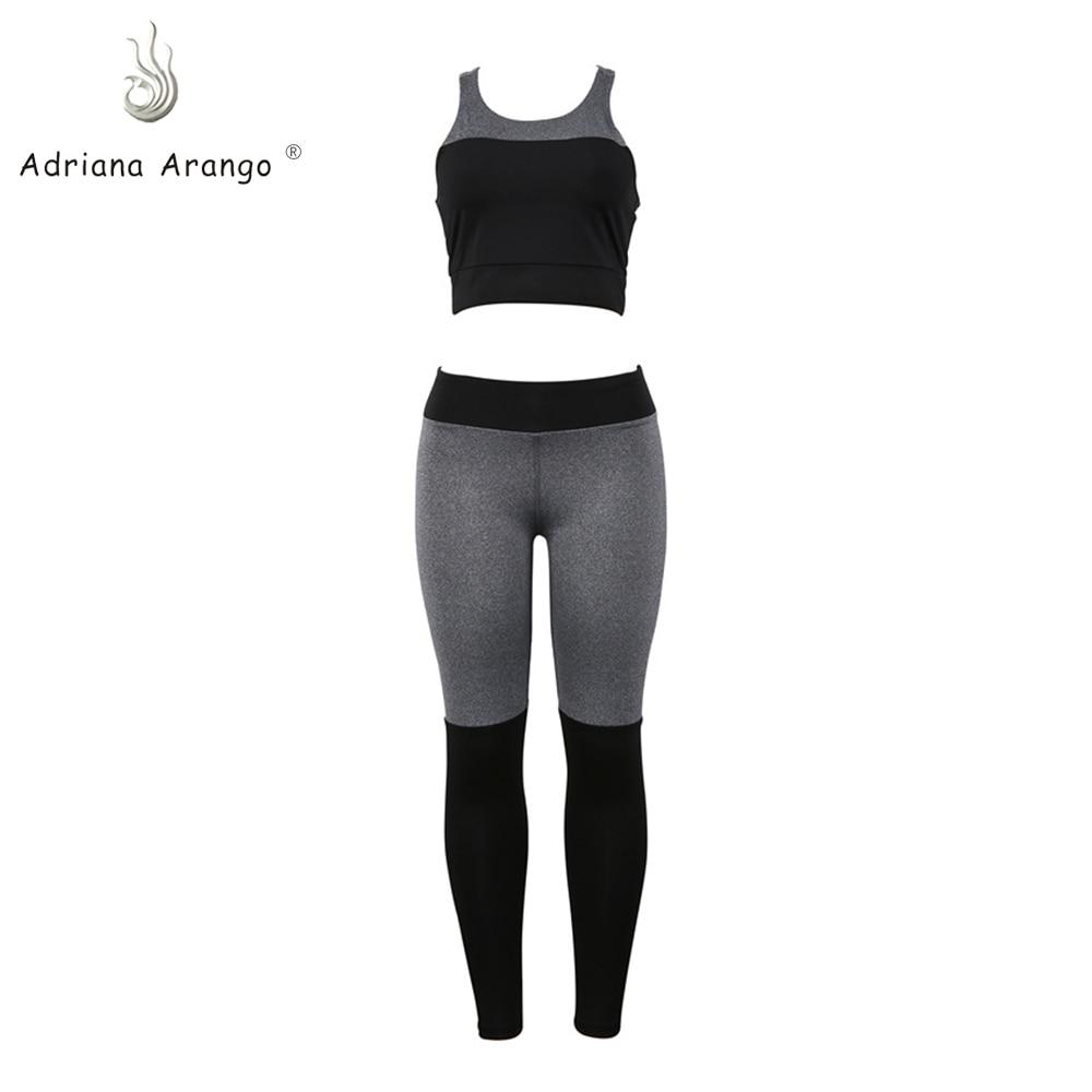Adriana Arango 2019 Nieuwe Vrouwen Halter Yoga Vest Broek Set Sneldrogende Tweedelige Vrouwen Yoga Fitness Slijtage