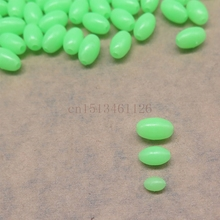 200 pcs glowing fishing floats light Olva/Round beads Luminous buoy accessories bulk flotador flotteur for night fishing