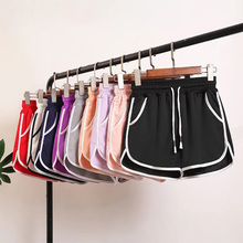 Summer Casual Shorts Woman 2019 Plus Size High Waist Booty Female Ice Silk cool Loose Beach Sexy