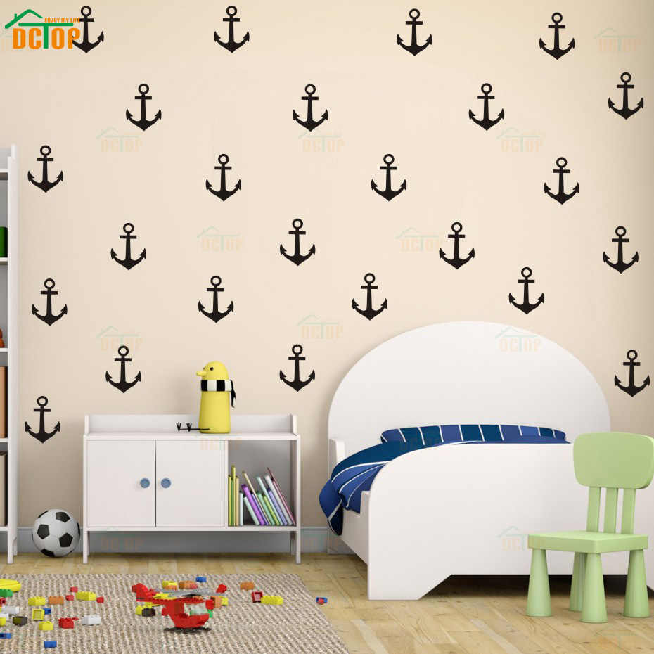 27Pcs/set Little Anchor Wall Sticker DIY Baby Nursery Rooms Home wall Decor Vinyl Art Mural Decal for Kids Room Bedroom Decals