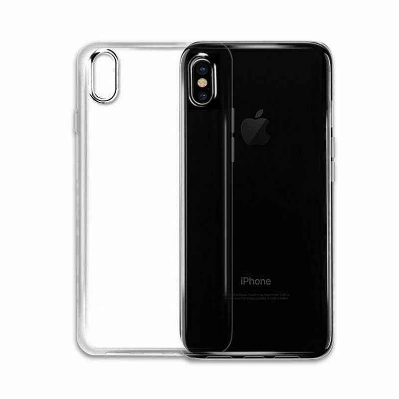 Transparant Clear Case Zachte TPU Case Siliconen Cover Ultra Dunne Mobiele Telefoon Geval voor IPhone 8 7 5 5S SE 6 6s Plus X S R XS MAX