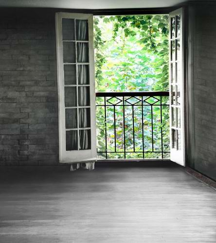 Brick wall room photo background window for scenery vinyl photography backdrops for photo studio backgrounds CM-0898