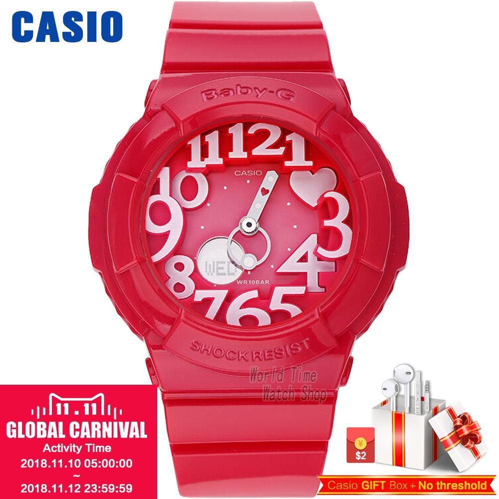 где купить Casio watch BABY-G Women's quartz sports watch fashion trend neon light double display waterproof baby g Watch BGA-130 по лучшей цене