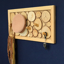 Creative Wall Solid Wood Hook Personality Wooden Hanging Clothes Rack Cloakroom Living Room Wedding Party Decoration