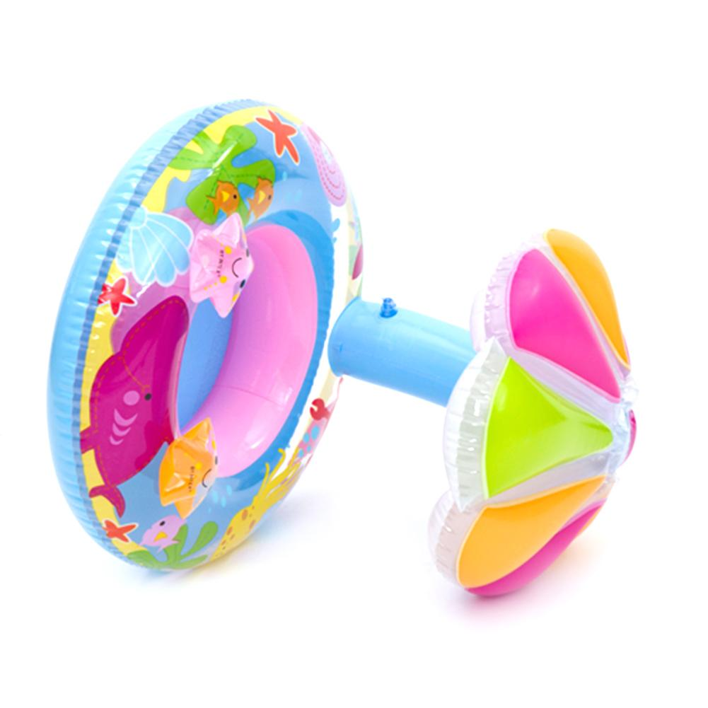 Baby Kids Swim Ring Inflatable Toddler Float Swimming Pool Water Seat w/Canopy
