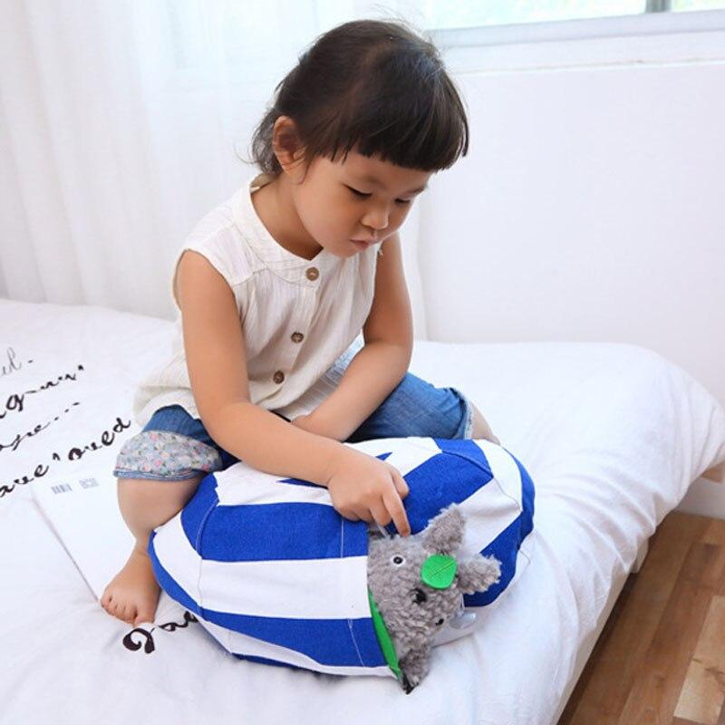 Fashion Stuffed Animal Storage Bean Bag Sack Kids Toy Organizer Canvas for Plush Toys Towels Clothes @ MA2918 Hogard