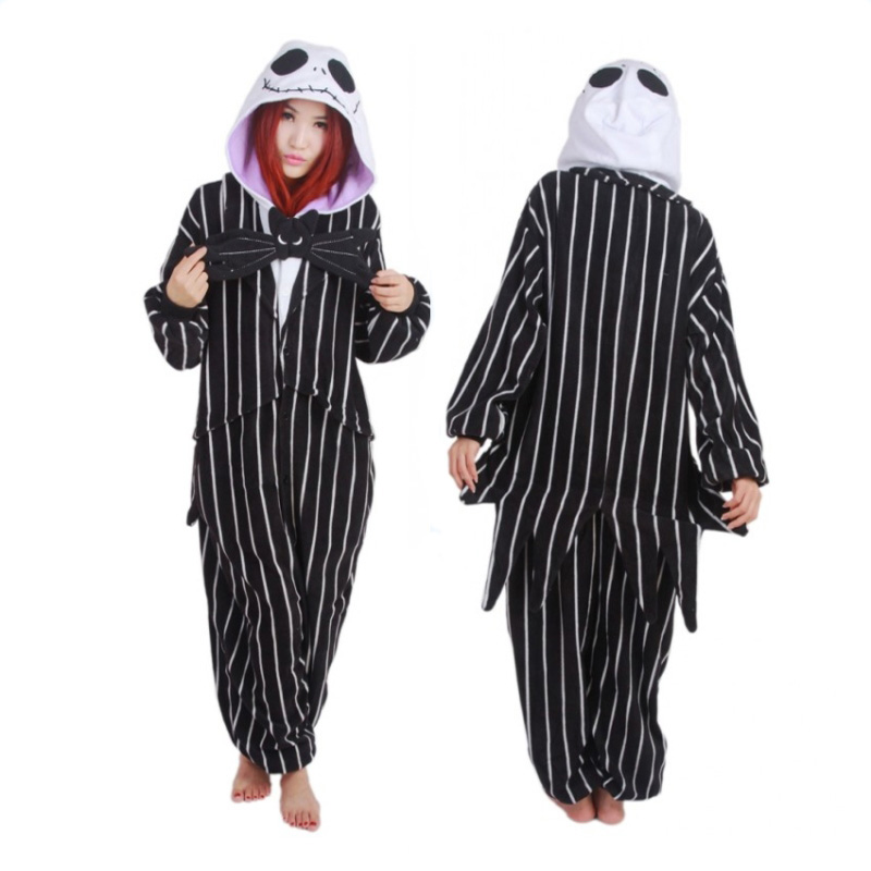 Novelty Pijamas Santa Claus Anime Jack Skellington Skeleton Adult Pajamas Onesie Winter Sleepwear For Women Home Clothing