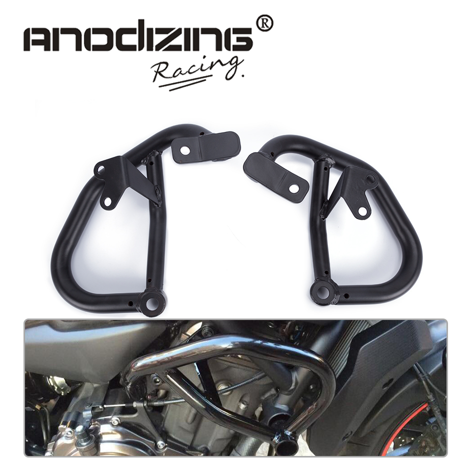 2014 2015 2016 for YAMAHA MT-07 FZ-07 MT07 FZ07 Black Engine Guard Crash Bar Protector engine bumper guard crash bars protector steel for yamaha mt09 mt 09 fz07 fz 09 2014 2016 2014 2015 2016 motorcycle