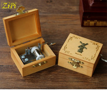 Zipi 18 Tones New Retro Wooden Handy Music Box Wooden Boxes Castle in the sky Creative Gift Wholesale