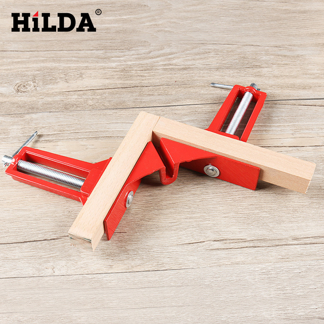 HILDA Multifunction 90 degree Right Angle Clip Picture Frame Corner Clamp 100MM Mitre Clamps Corner Holder Woodworking Hand Tool