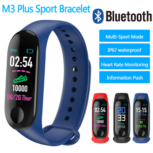 Image 3 - 2019 M3 בתוספת חכם צמיד כושר מד צעדים שעון ריצה גשש לחץ דם קצב לב צג ספורט מד צעדים להקה