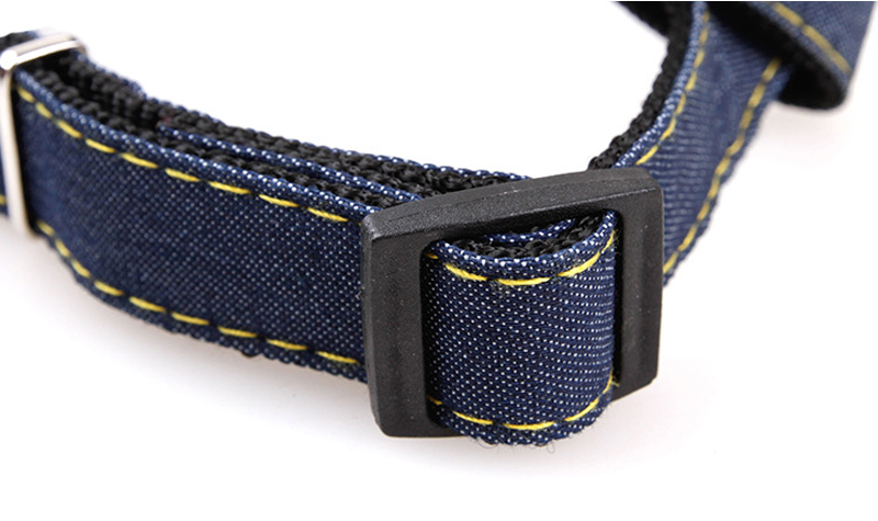 Pet Dog Cat Collar Clip Buckle Jean Collar Outdoor Sports Safety Lead Leash For Small Medium Dogs Chihuahua Cats S M L XL Strong (7)