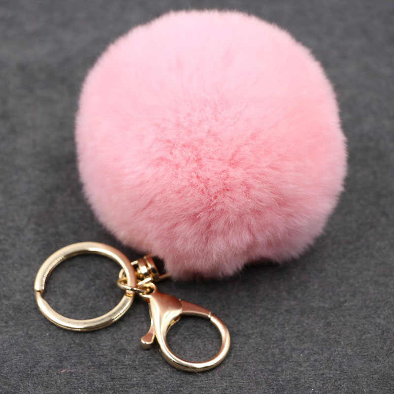17 Color Trinket Artificial Fur Ball Keychain Pompom Fur Keychains on The Bag Cute Fluffy Faux Pompon Pendant Accessories