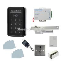 DIY Full Kit Set RFID Keypad Access Control System + Electric Drop Bolt Lock + Door Bell + Remote Control K5