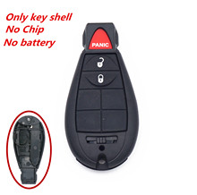 WFMJ 3 Buttons Remote Smart Key Case Shell Fob For 2009 2010 Dodge Ram Journey Grand Carvan Durango Challenger Charger