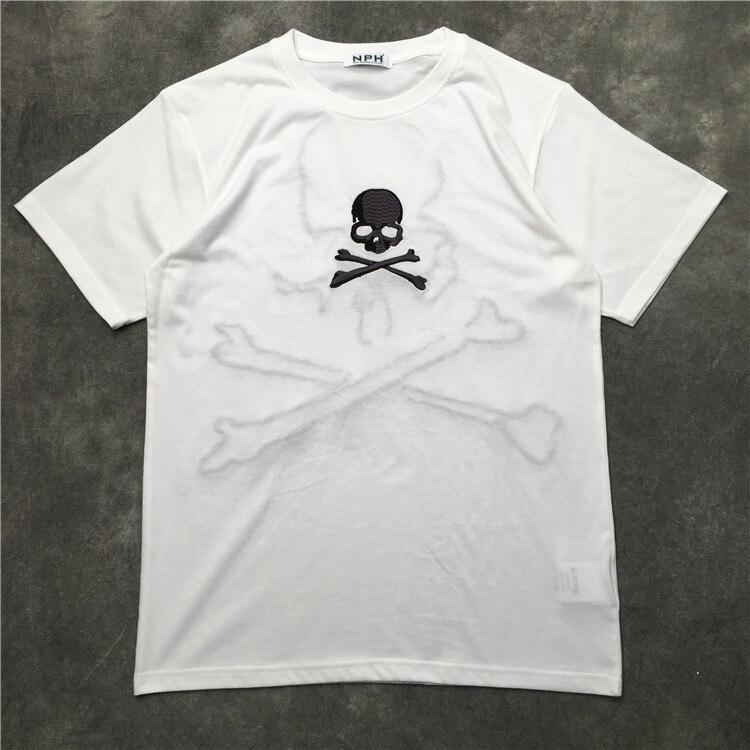 Новые роскошные мужские модные футболки повседневная футболка с вышивкой в виде