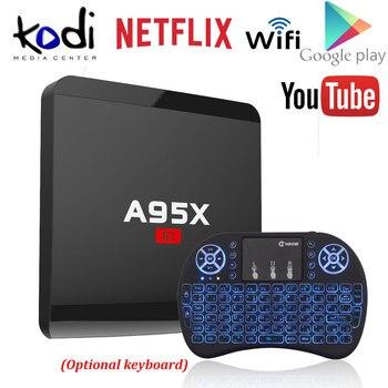 A95X R1 Amlogic S905W Quad-core Android 7.1 Smart TV Box 1GB/8GB 2GB/16GB 4Kx2K HD 2.4G Wifi Media Player Nexbox Set Top Box