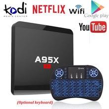 A95x R1 Amlogic s905w четырехъядерный Android 7.1 Умные телевизоры коробка 1 ГБ/8 ГБ 2 ГБ/16 ГБ 4 К x 2 К HD 2.4 г Wi-Fi media player nexbox Декодер каналов кабельного телевидения