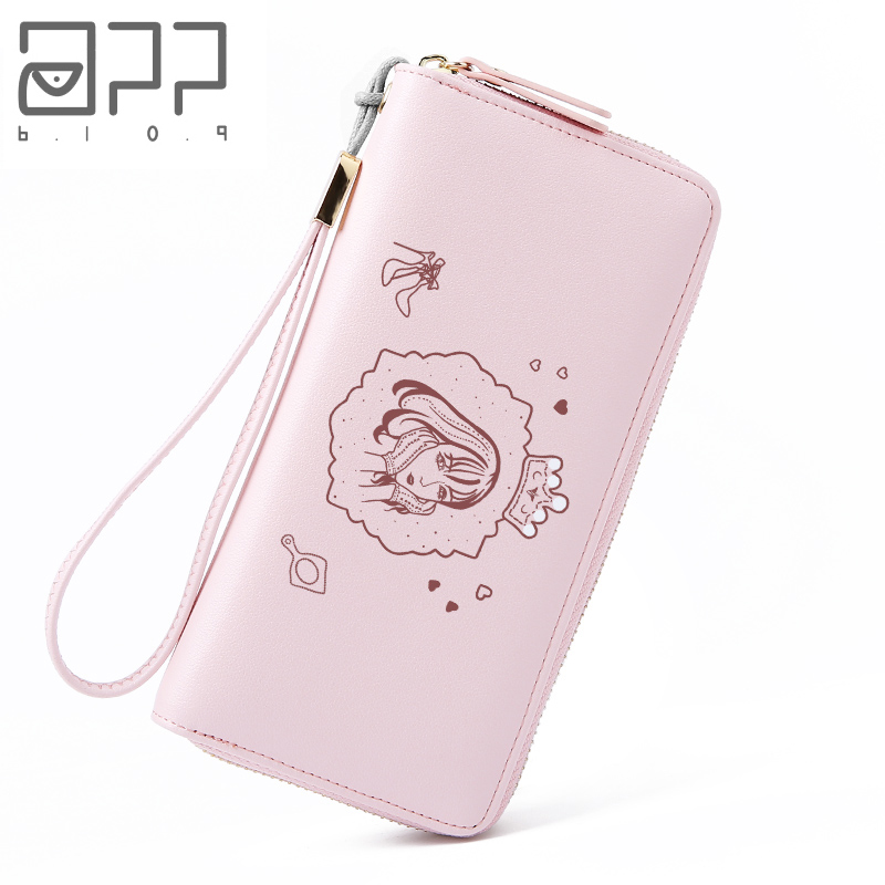 APP BLOG Famous Brand Unique Cute Queen Women's Long Design Purse 2018 Newest Fashion Clutch High Capacity Wallet Phone Bags